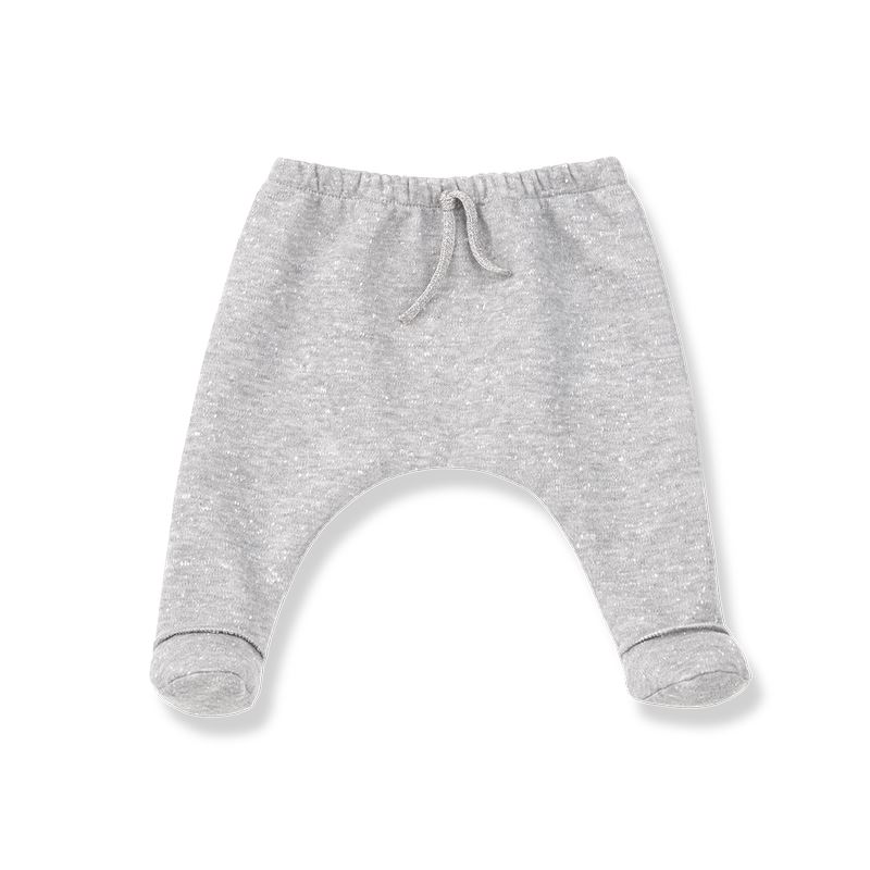1+in the family light grey Leggings with feet Epi: Detail1