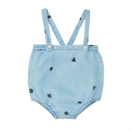 Culotte Sproet & Sprout Playing cars denim azul claro