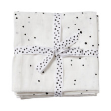 Muselinas Done by Deer 120x120 Pack 2 Puntos Blanco