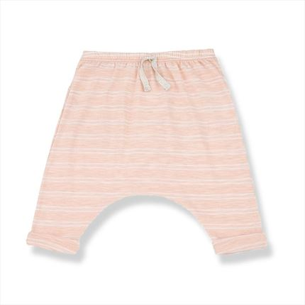 Striped long pants 1+ in the family Sammy pink