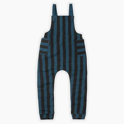 Sweat salopette Sproet & Sprout Stripes blue and black