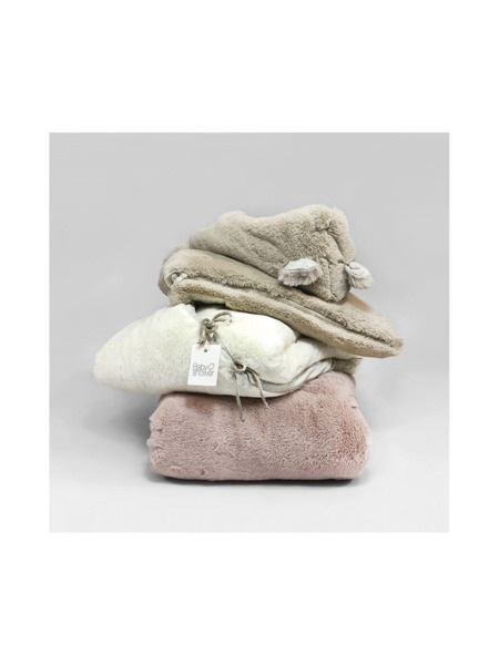 Teddy Baby Shower footmuff Nude Pink
