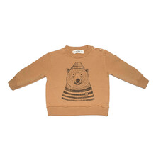 Sudadera Oso Polar Dear Mini Ocre