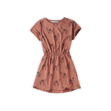 Sproet & Sprout short sleeve camel print dress